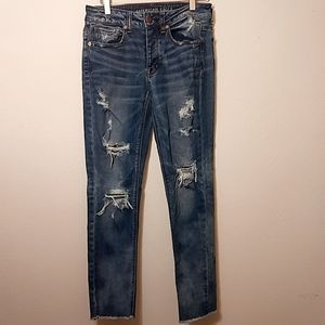 American Eagle Distressed Tomgirl Denim Jeans - 2